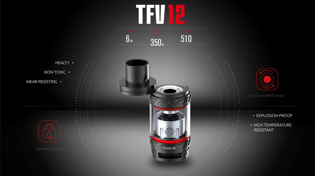SMOK TFV12 Cloud Beast King - Design