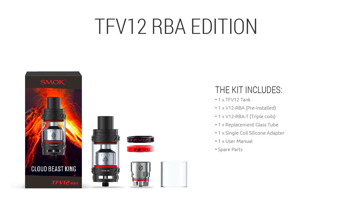 SMOK TFV12 Cloud Beast King - RBA Kit