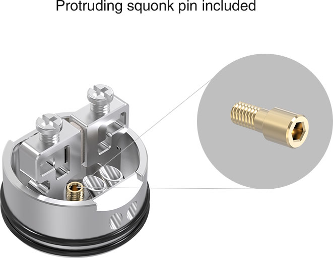 Protruding Squonk Pin