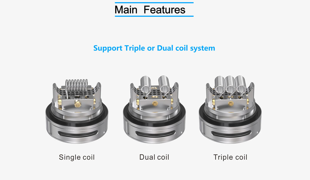 Triple 2 RTA - Coil Options