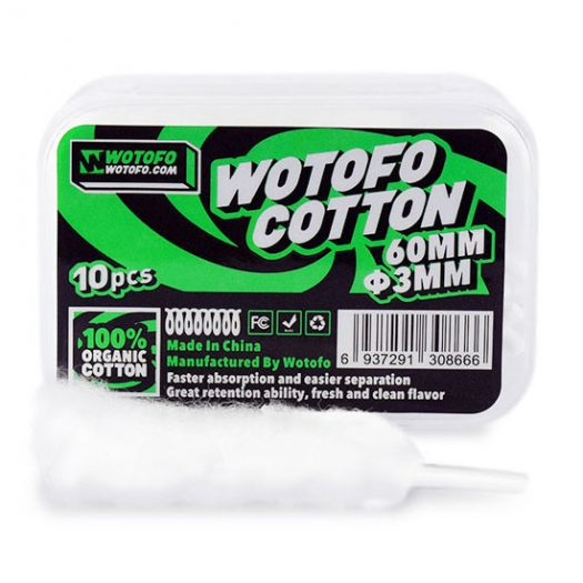 Wotofo Pre-Built Agleted Organic Cotton