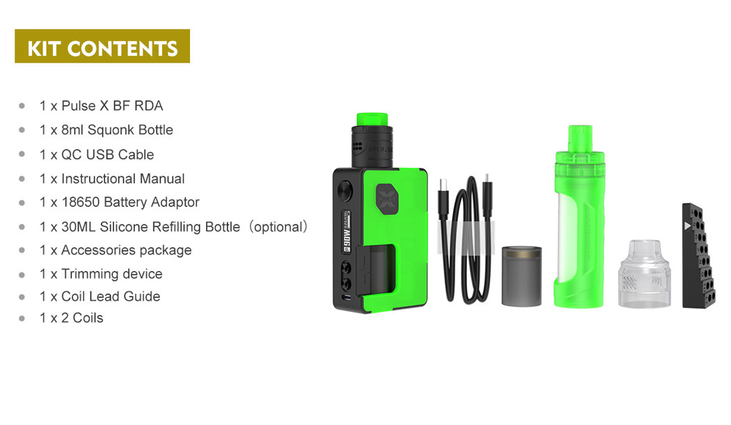 Pulse X BF Kit - Product Contents