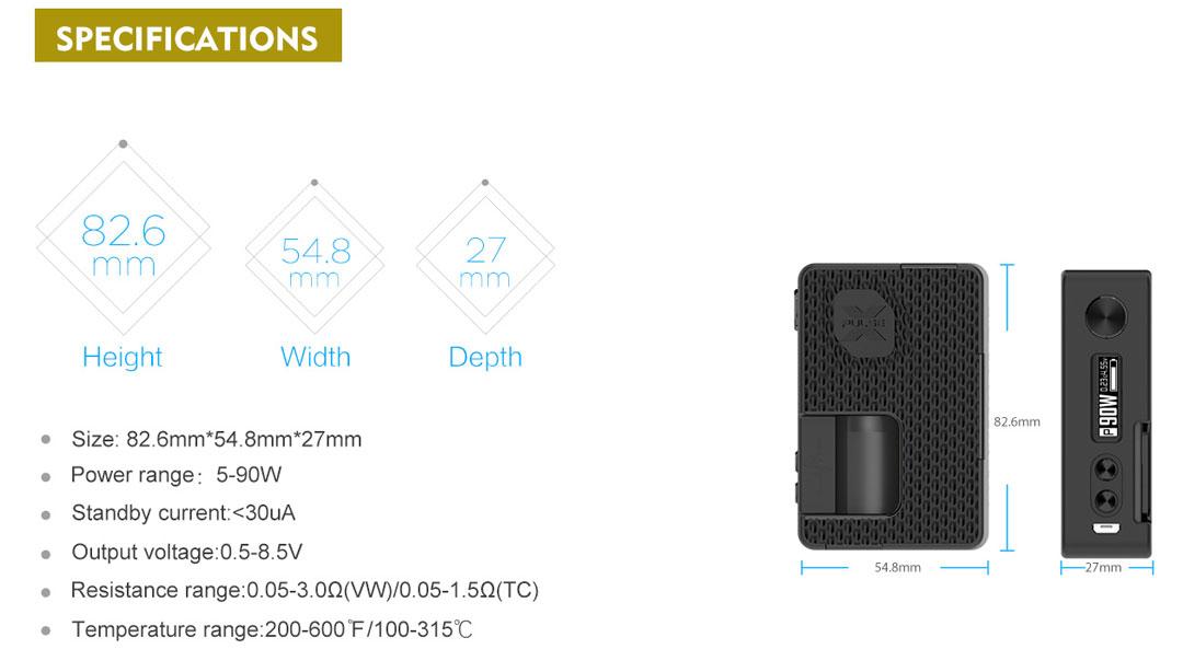 Pulse X Kit SE -Specs