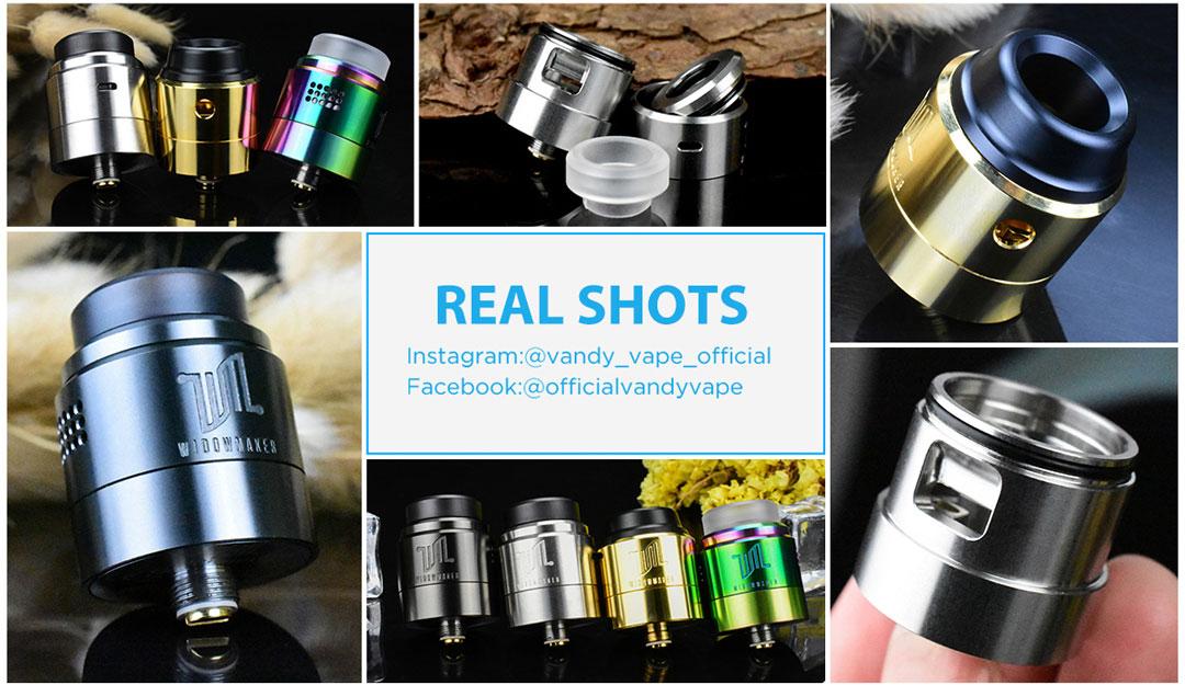 Vandy Vape Widowmaker RDA - Real Shots