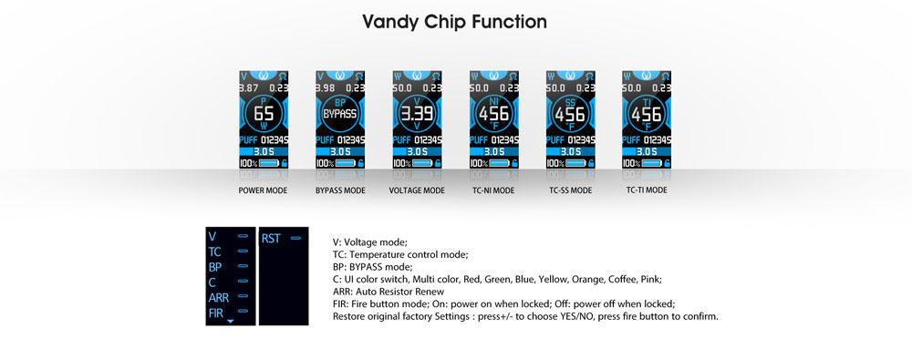 Jackaroo Vandy Chip Features