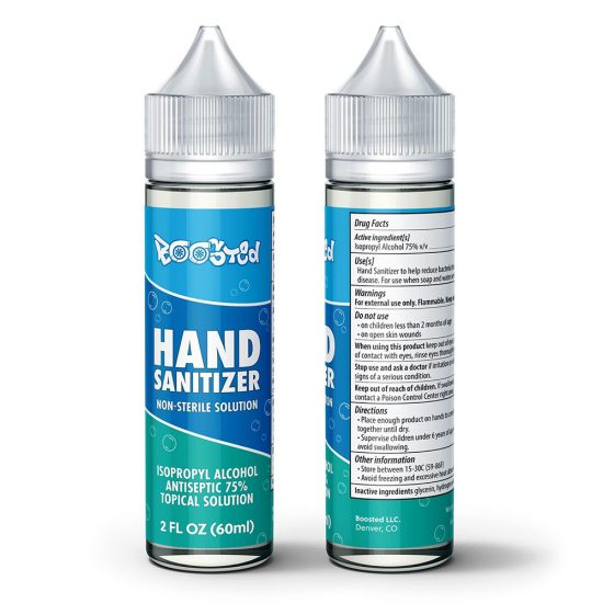 Boosted Hand Sanitizer With Label