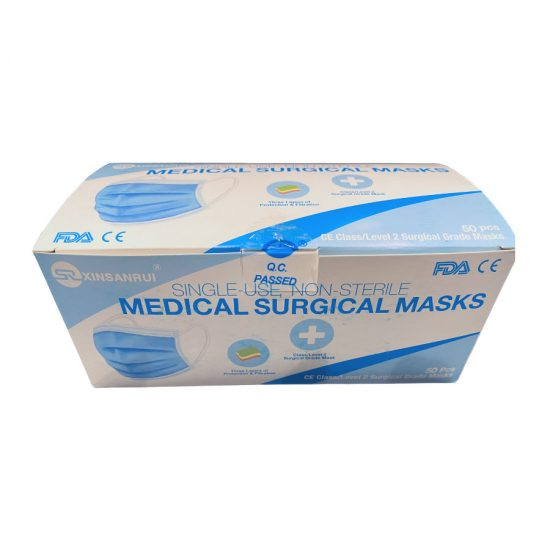 3-Ply Surgical Masks - Front Box