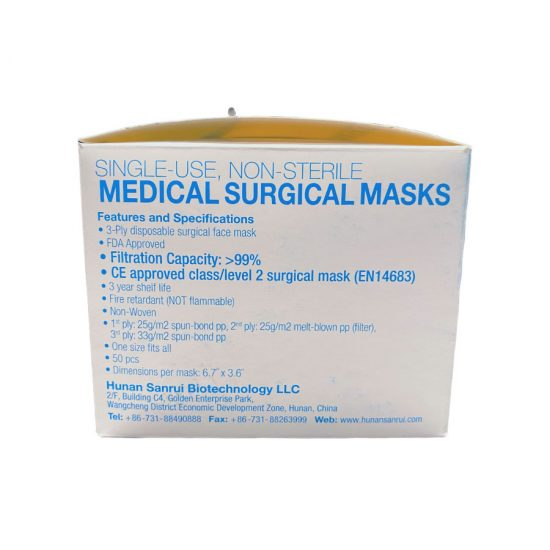 3-Ply Surgical Masks - Side Box 1