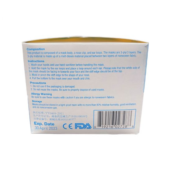 3-Ply Surgical Masks - Side Box 2
